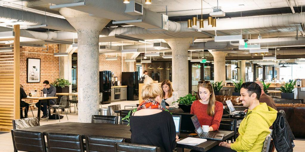 Shared office space in Ponce City Market