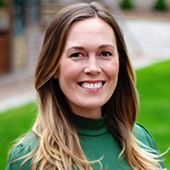 Picture shows Kristen McCann - Community Manager
