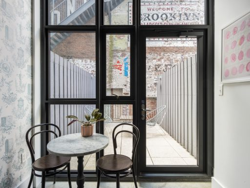 Offices at Work From Here by Industrious at Wythe Hotel come with private outdoor space.