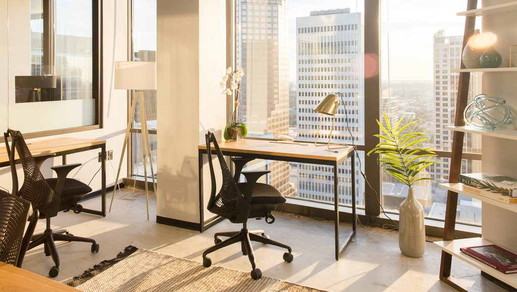 A private office at Industrious Uptown.