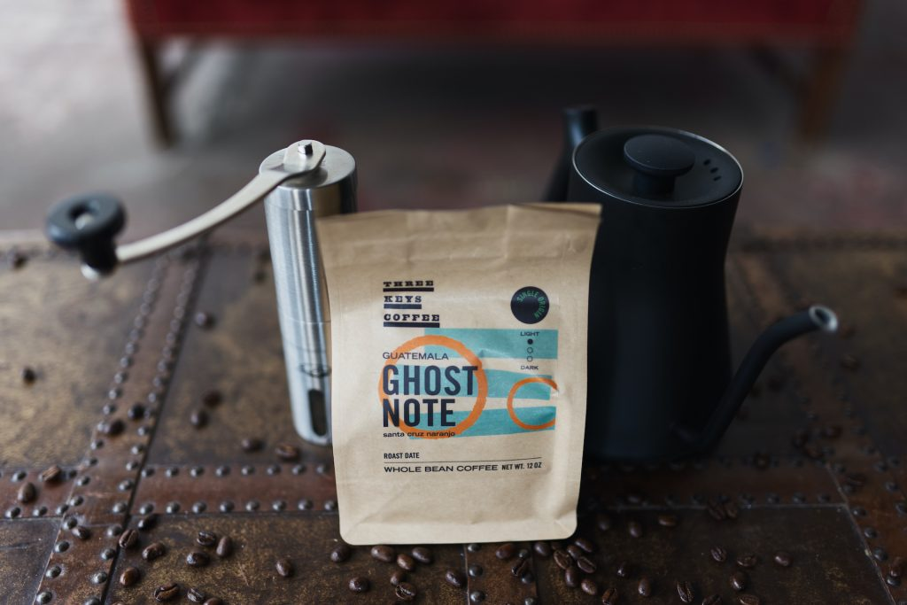 Tio likes using Three Keys' Ghost Note coffee to make Americanos. (John Bogna)