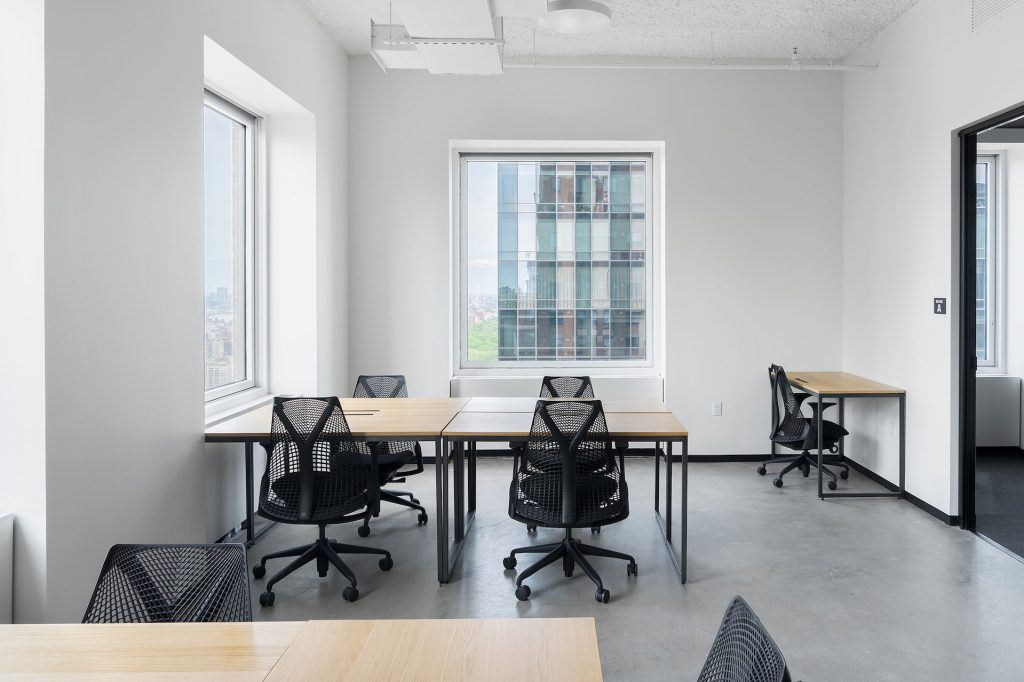 Natural light fills the offices, suites, and meeting rooms of Industrious Carnegie Hall Tower.