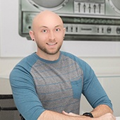 Picture shows Sean Wolfinger - Community Manager