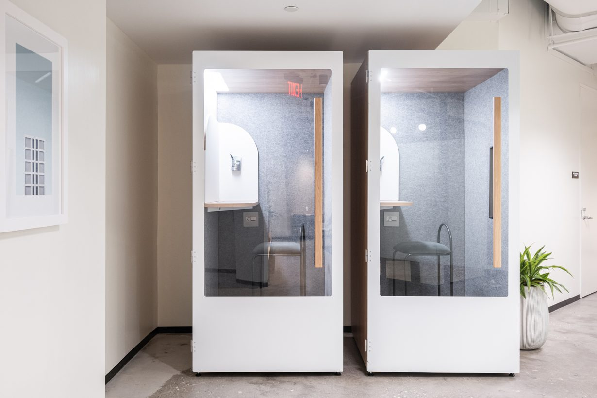 Phone booths by Room are specially designed to be soundproof and private.